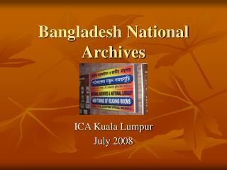 Bangladesh National Archives