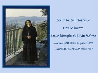 Sœur M. Scholastique Ursule Rivata Sœur Disciple du Divin Maître