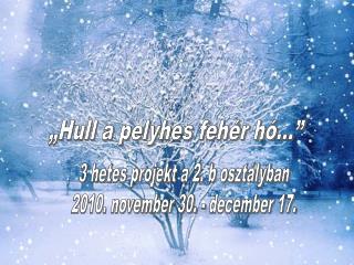 """""""Hull a pelyhes fehér hó…"""""""