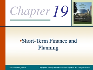 Chapter 15 Financial Forecasting and Working Capital Policy