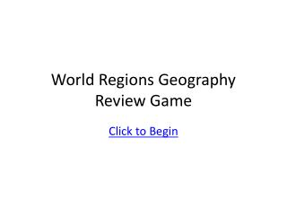 World Regions Geography Review Game