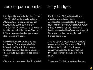 Les cinquante ponts