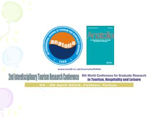 6th World Conference for Graduate Research in Tourism, Hospitality and Leisure