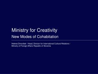 Ministry for Creativity