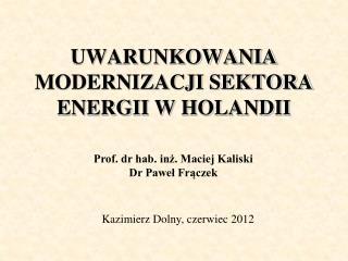 UWARUNKOWANIA MODERNIZACJI SEKTORA ENERGII W HOLANDII