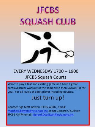 JFCBS SQUASH CLUB
