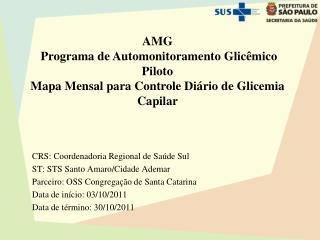 AMG   Programa de Automonitoramento Glicêmico Piloto