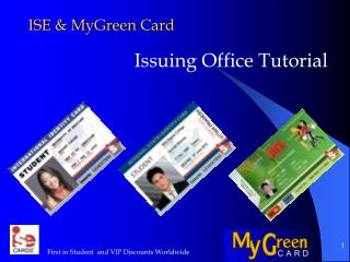 ISE &  MyGreen  Card