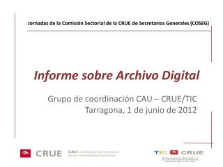 Informe sobre Archivo Digital