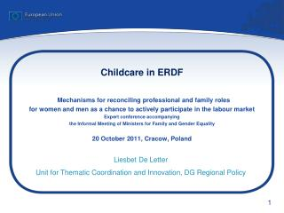 Childcare in ERDF