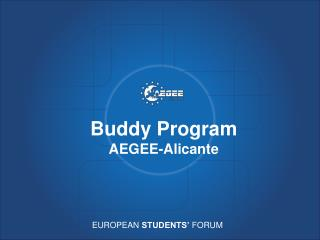 Buddy Program AEGEE-Alicante