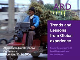 Trends and Lessons from Global experience