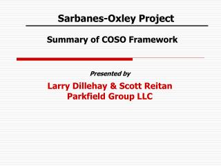 Sarbanes-Oxley Project