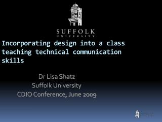 Incorporating design into a class teaching technical communication skills