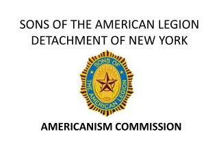 SONS OF THE AMERICAN LEGION DETACHMENT OF NEW YORK