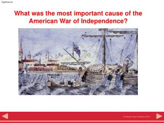 What was the most important cause of the American War of Independence?