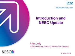 Introduction and NESC Update