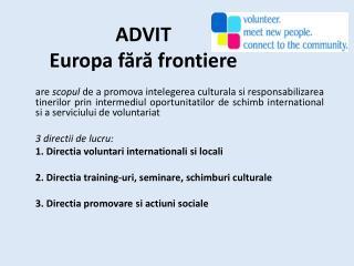 ADVIT  Europa  fără frontiere