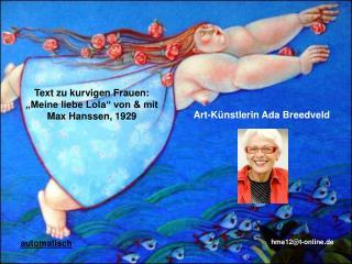 Text zu kurvigen Frauen: �Meine liebe Lola� von & mit  Max Hanssen, 1929