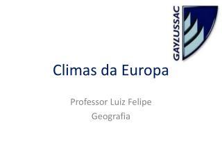 Climas da Europa