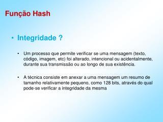 Função Hash
