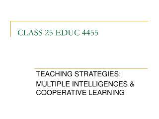 CLASS 25 EDUC 4455