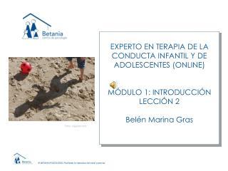 EXPERTO EN TERAPIA DE LA CONDUCTA INFANTIL Y DE  ADOLESCENTES (ONLINE) M�DULO 1: INTRODUCCI�N