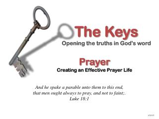 Prayer Creating an Effective Prayer Life