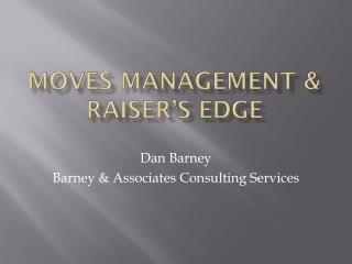 Moves Management & Raiser's Edge