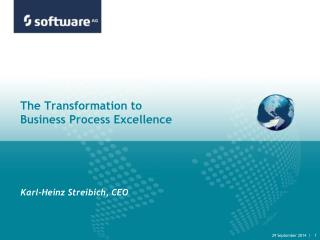 The Transformation to  Business Process Excellence
