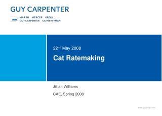 Cat Ratemaking