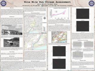 Nine Mile Run Stream Assessment Emily Broich  Michael Muder University of Pittsburgh, Department of Geology and Planetar