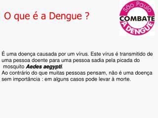 O que   a Dengue