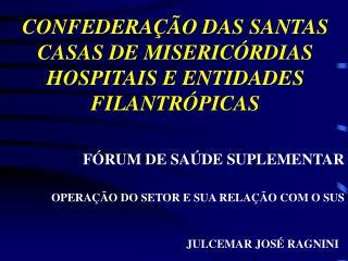 CONFEDERAÇÃO DAS SANTAS CASAS DE MISERICÓRDIAS HOSPITAIS E ENTIDADES FILANTRÓPICAS