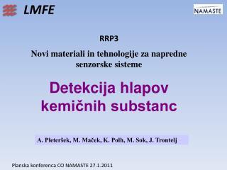 RRP3  Novi materiali in tehnologije za napredne senzorske sisteme
