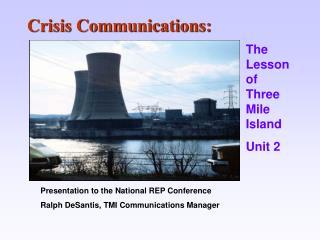 Crisis Communications: