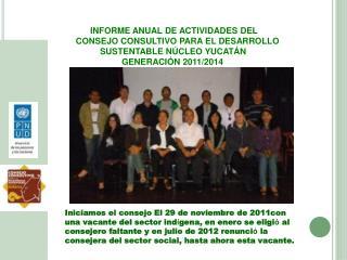 INFORME ANUAL DE ACTIVIDADES DEL CONSEJO CONSULTIVO PARA EL DESARROLLO