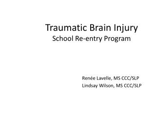 Traumatic Brain Injury School Re-entry Program