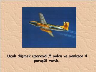 Uçak düşmek üzereydi,5 yolcu ve yanlızca 4 paraşüt vardı…