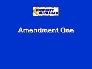 Amendment One