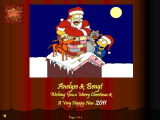 Anelyse  & Bengt  Wishing You  a  Merry Christmas  &         A  Very Happy New 2011