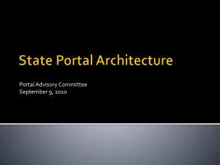 State Portal Architecture