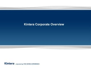 Kintera Corporate Overview