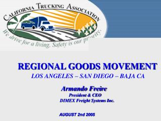 REGIONAL GOODS MOVEMENT