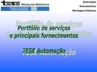 Automação  Acionamentos Montagens Elétricas