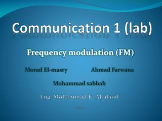 Communication 1 (lab)