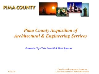Pima County Acquisition of Architectural  Engineering Services