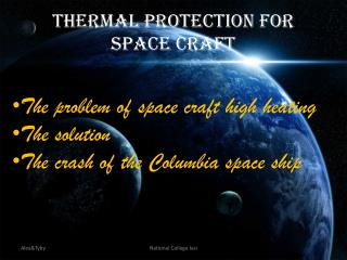 Thermal Protection for Space Craft