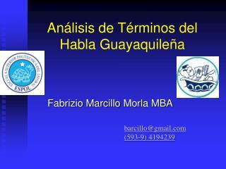 An lisis de T rminos del  Habla Guayaquile a