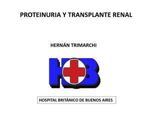 PROTEINURIA Y TRANSPLANTE RENAL